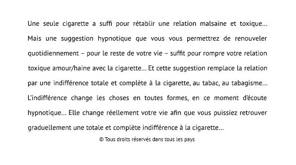 texte tabac