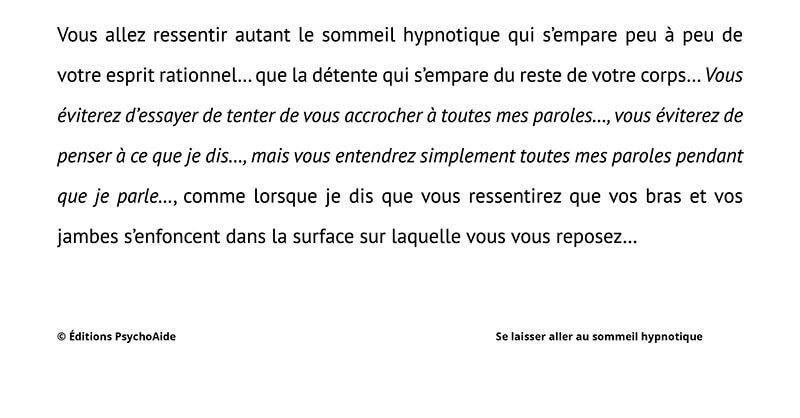 Script hypnotique – Induction d'août: Se laisser aller au sommeil hypnotique