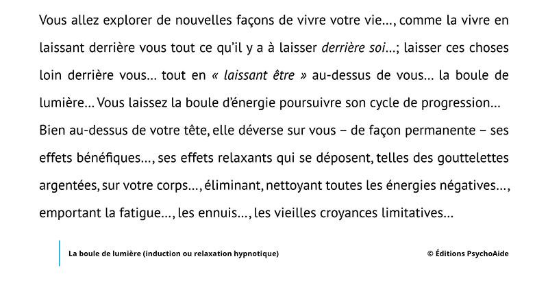 Script hypnotique - La boule de lumière (induction ou relaxation hypnotique)