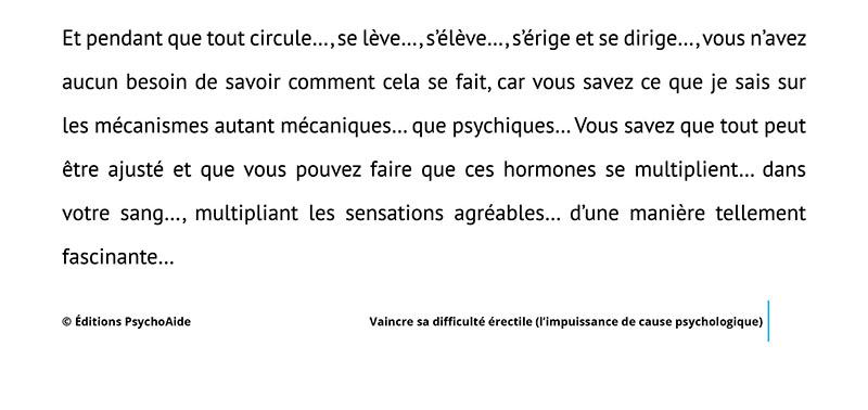 Script hypnotique - Vaincre sa difficulté érectile (l'impuissance de cause psychologique) (visualisation thérapeutique)