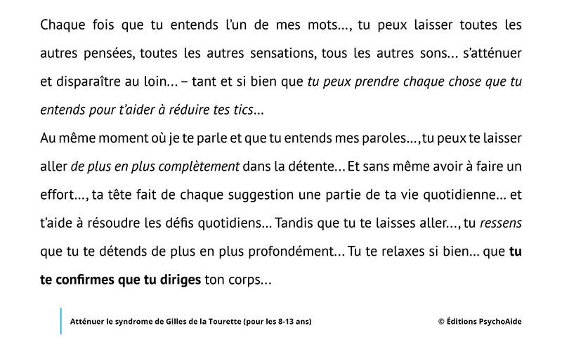 Script hypnotique - Atténuer le syndrome de Gilles de la Tourette (pour les 8-13 ans)