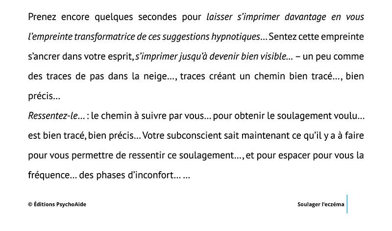 Script hypnotique - Soulager l'eczéma