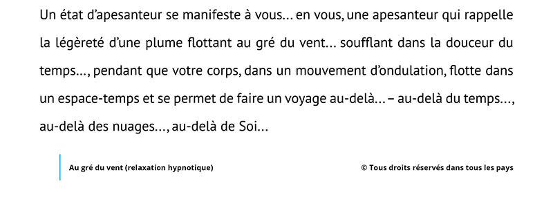 Script hypnotique – Au gré du vent (relaxation hypnotique)