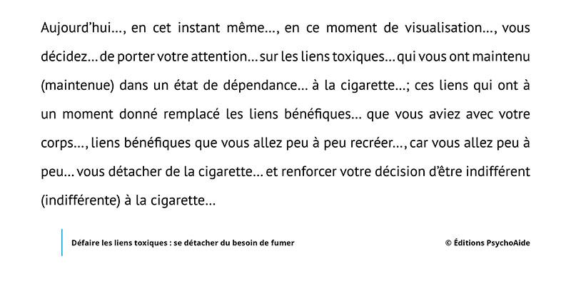 Script hypnotique - Défaire les liens toxiques- se détacher du besoin de fumer (visualisation thérapeutique)