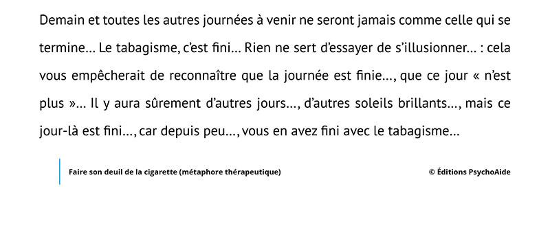 Script hypnotique - Faire son deuil de la cigarette (métaphore thérapeutique)