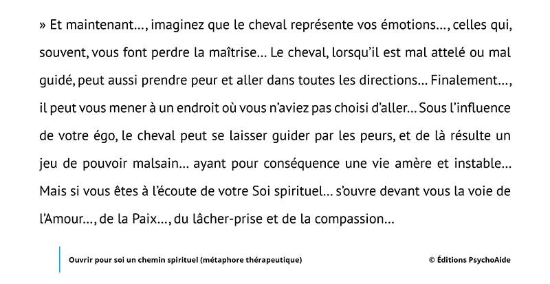 Script hypnotique - Ouvrir pour soi un chemin spirituel (métaphore thérapeutique)