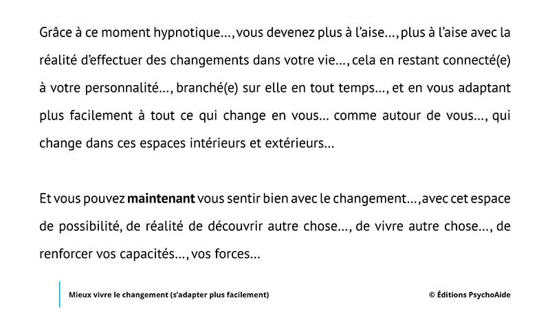 Script hypnotique - Mieux vivre le changement (s'adapter facilement)