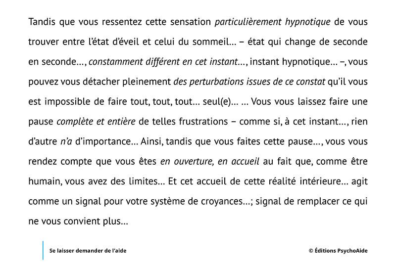 Script hypnotique - Se laisser demander de l'aide