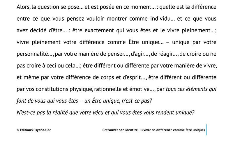 Script hypnotique - Retrouver son identitéIII (vivre sa différence comme Être unique)