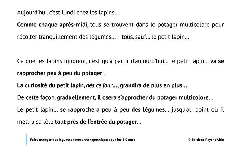 Script hypnotique - Faire manger des légumes (conte thérapeutique pour les 5-9 ans)
