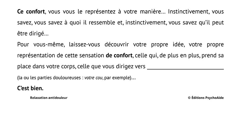 Script (relaxologie) - Relaxation antidouleur