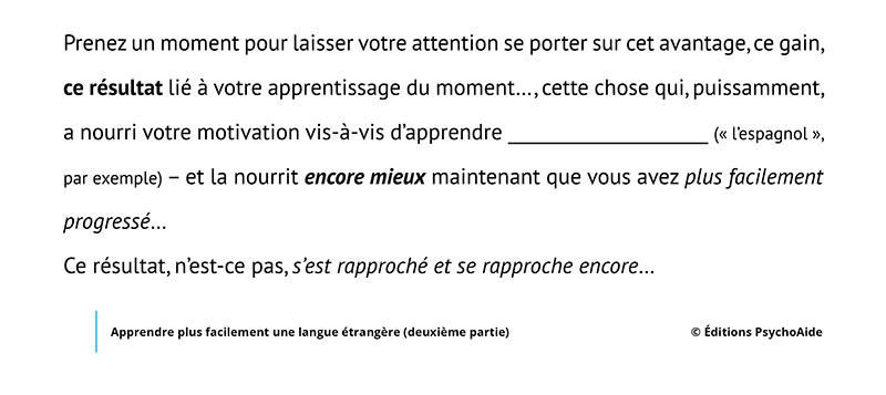 Script hypnotique - Apprendre plus facilement une langue étrangère (deuxième partie)
