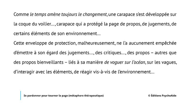 Script hypnotique - Se pardonner pour tourner la page (métaphore thérapeutique)