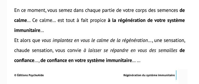 Script hypnotique – Régénération du système immunitaire (visualisation thérapeutique)