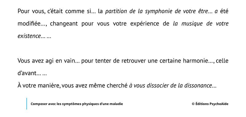 Script hypnotique - Composer avec les symptômes physiques d'une maladie