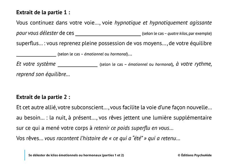 Script hypnotique - Se délester de kilos émotionnels ou hormonaux (parties 1 et 2) (duo de reprogrammations hypnotiques)