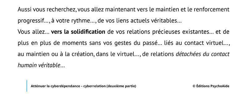 Script hypnotique - Atténuer la cyberdépendance - cyberrelation (deuxième partie)