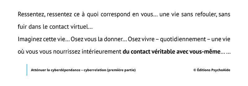 Extrait du script hypnotique - Atténuer la cyberdépendance - cyberrelation (première partie) (visualisation thérapeutique)