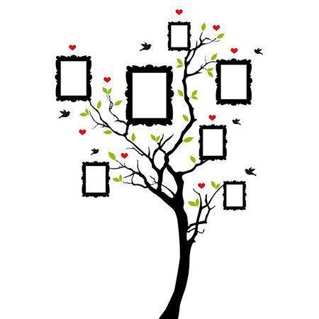 15148859 – family tree with picture frames, background illustration