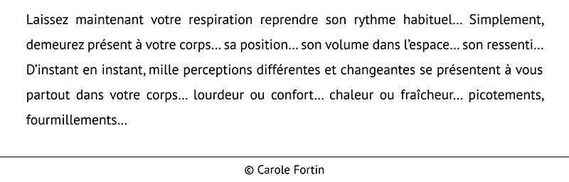 Extrait du texte hypnotique - Comme sur un nuage (relaxation sensorielle)